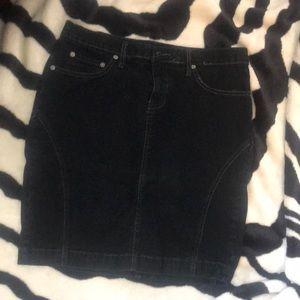 Black Jean Pencil Skirt